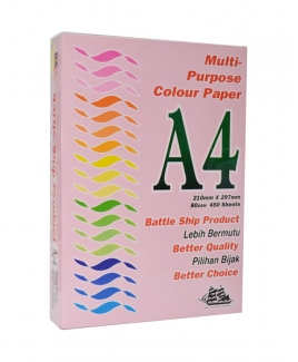 Battleship Product® A4 Colour Simili (80gsm) - Pink